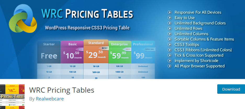 wrc pricing table wordpress pricing table plugins