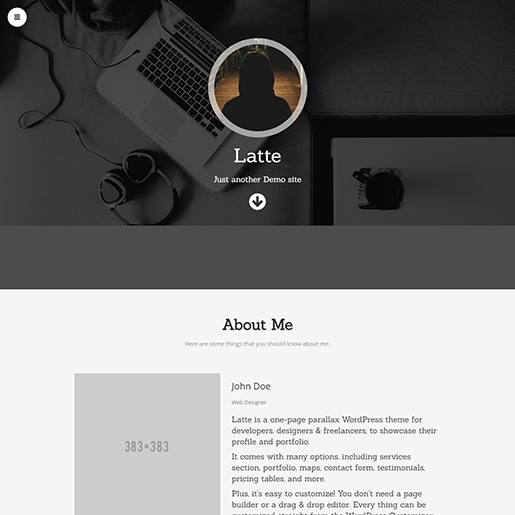 WordPress themes for artists - latte