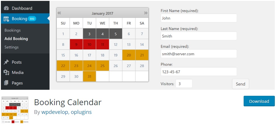booking-calendar-wordpress-timeline-plugins