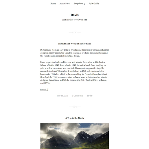davis-gutenberg-compatible-wordpress-theme