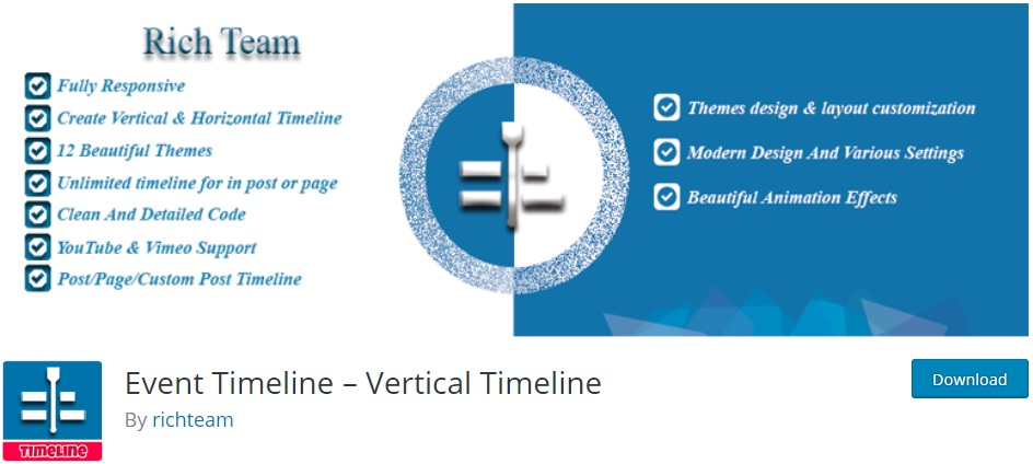 9 Best Free WordPress Timeline Plugins for 2019 - ThemeGrill