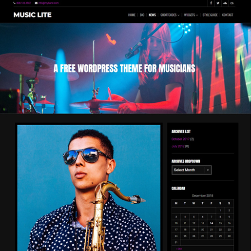 music-lite-gutenberg-compatible-wordpress-theme