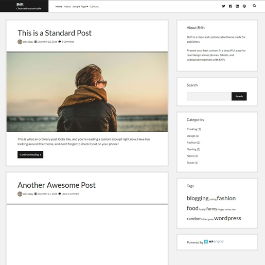 shift-gutenberg-compatible-wordpress-theme