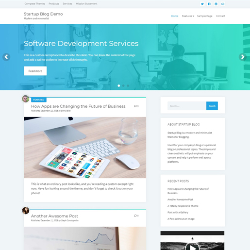 startup-blog-gutenberg-compatible-wordpress-theme