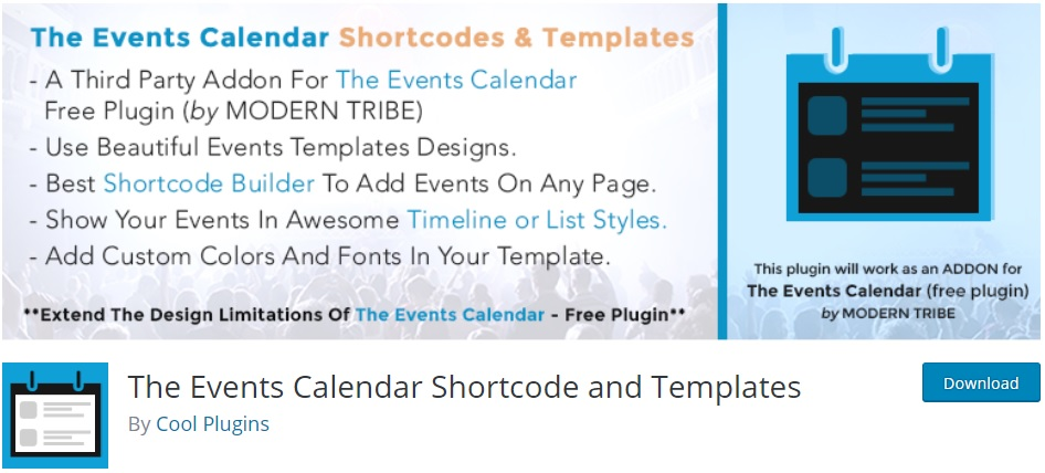 the-events-calendar-shortcodes-and-templates-wordpress-timeline-plugins