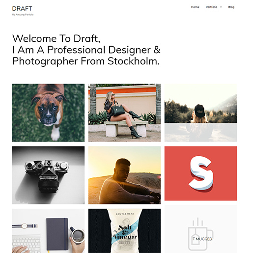 wordpress themes for artists - draft