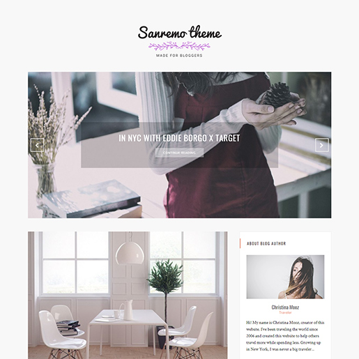 wordpress themes for artists - sanremo