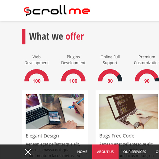 wordpress themes for artists - scroll me