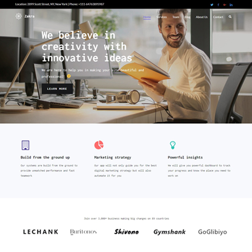 zakra-gutenberg-compatible-wordpress-theme
