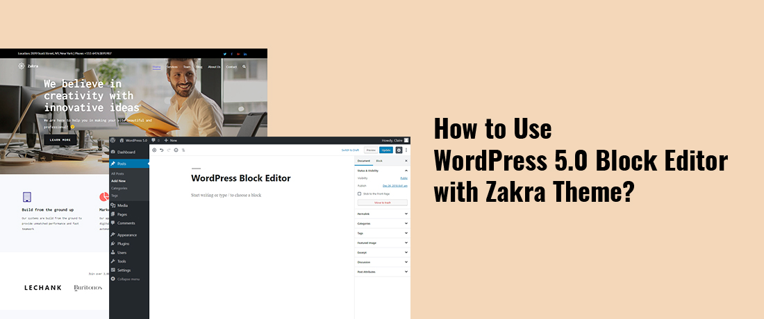 How to Use WordPress 5.0 Block Editor with Zakra Theme?