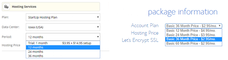 Siteground bluehost pricing