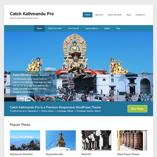 WordPress Travel theme- Catch kathmandu
