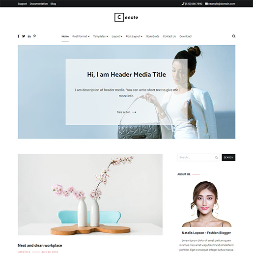 WordPress Travel theme-cenote