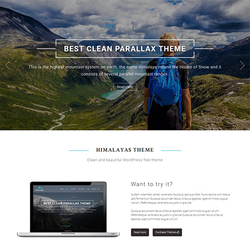 WordPress Travel theme-himalayas