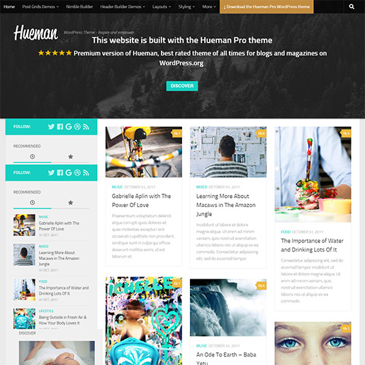 WordPress Travel theme-hueman