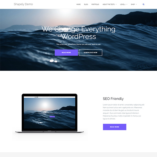 WordPress Travel theme-shapely