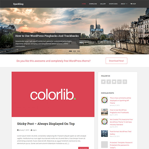 WordPress Travel theme-sparkling