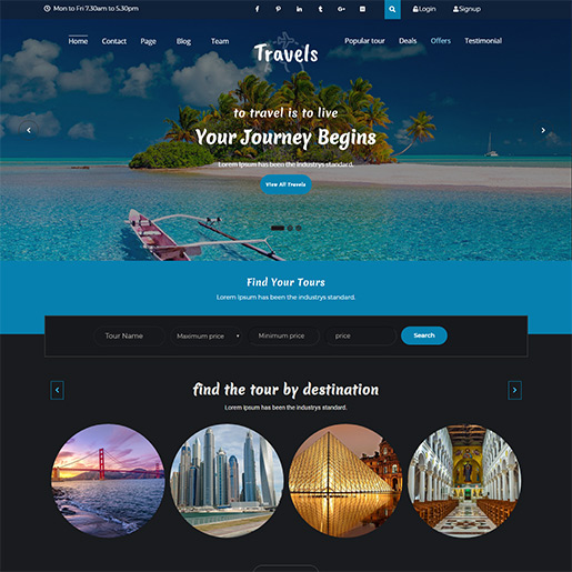 WordPress Travel theme-tafri