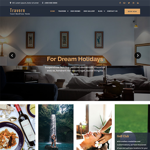 WordPress Travel theme-travern