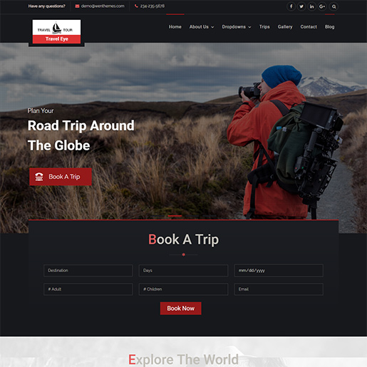 WordPress Travel themes - Travel eye