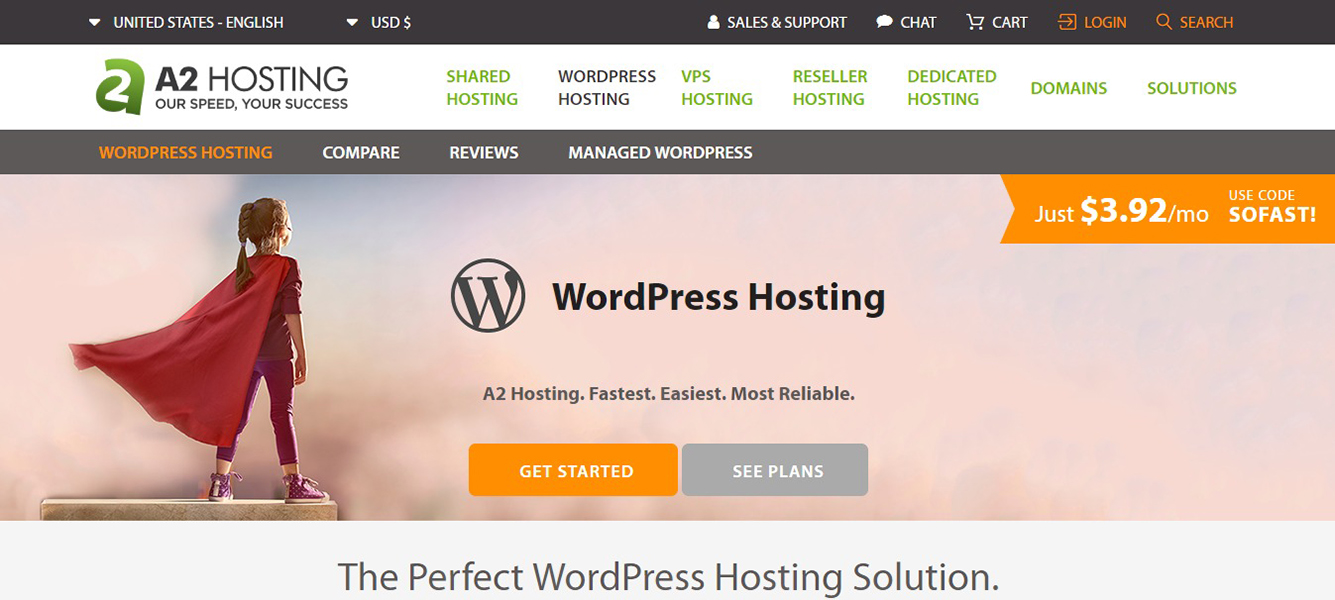 A2 Cheapest WordPress Hosting