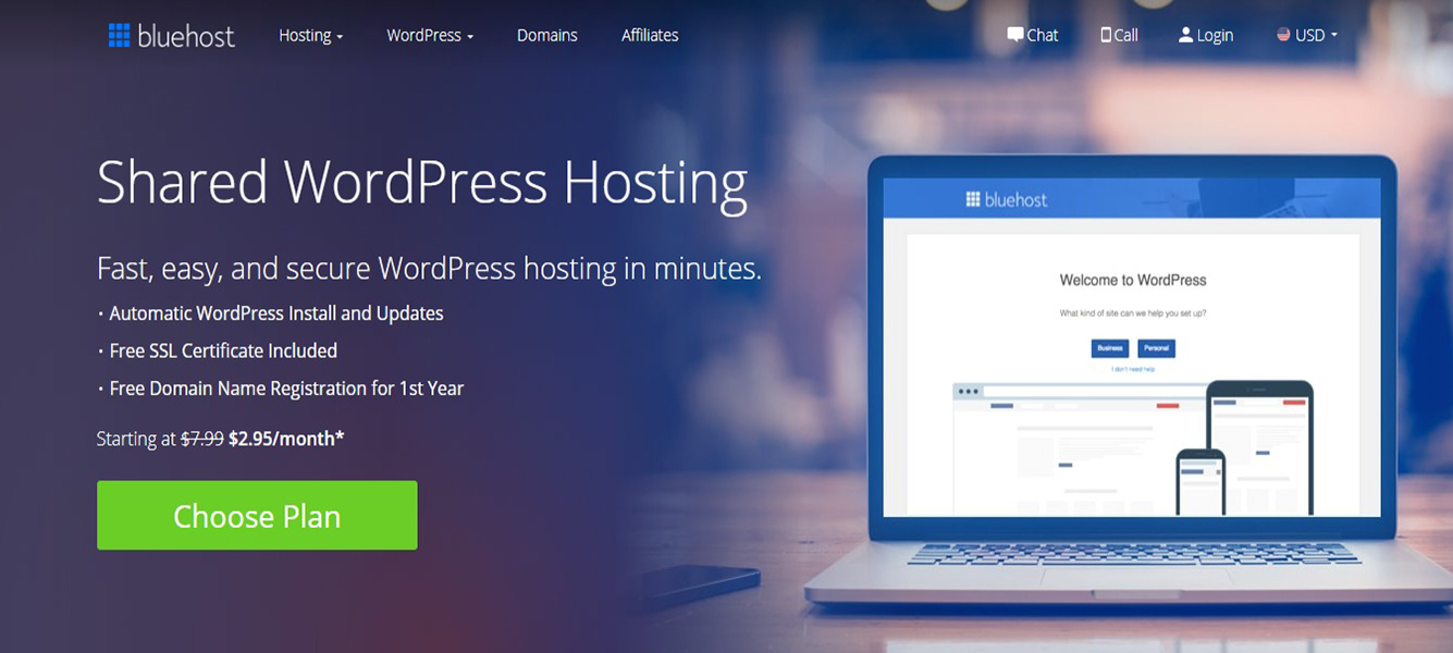 Bluehost cheapest WordPress Hosting