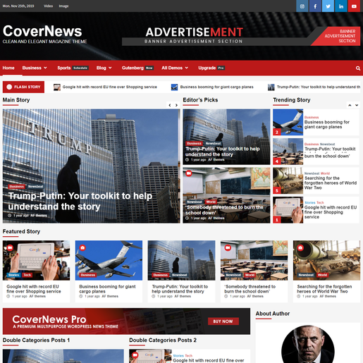 CoverNews Best Free Google AdSense Optimized WordPress Themes