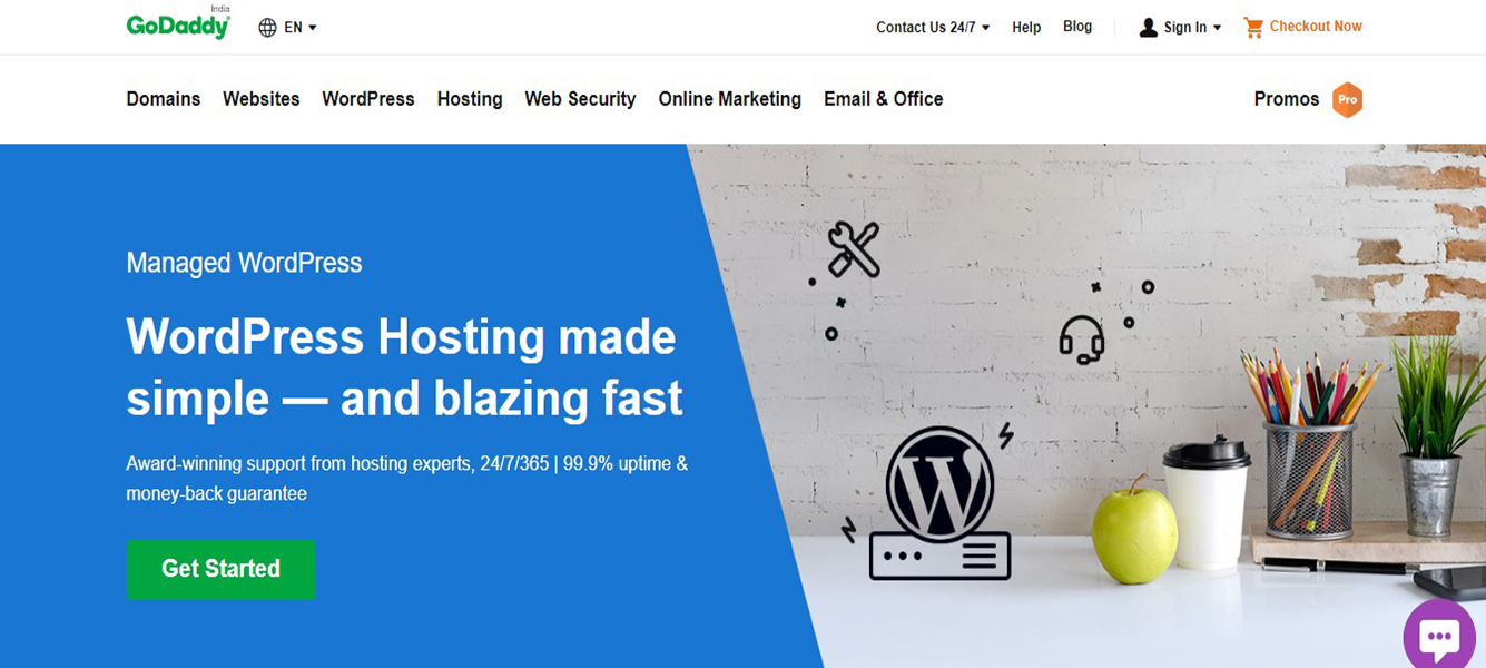 GoDaddy Cheapest WordPress Hosting