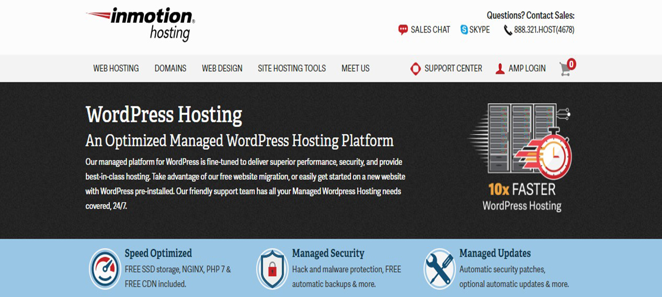 Inmotion Cheapest WordPress Hosting