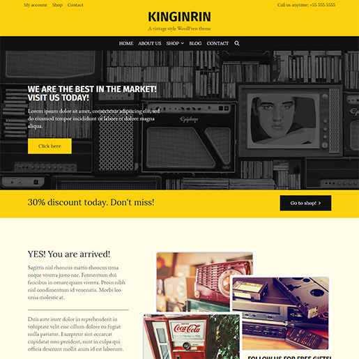 Retro WordPress Theme - Kingrin