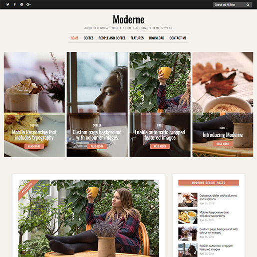 Retro WordPress Theme - Moderne