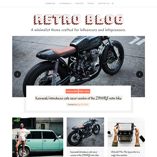 Retro WordPress Theme- Retro blog