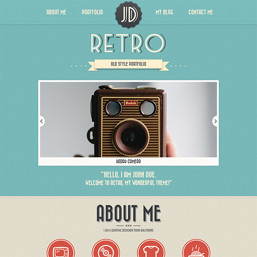 Retro WordPress Theme - Retro portfolio