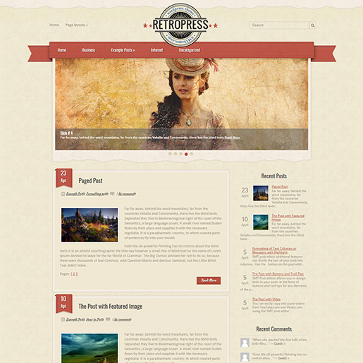 Retro WordPress Theme - Retropress