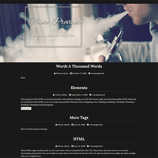 Retro WordPress Theme - Siggen