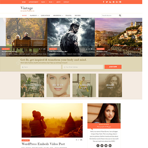 Retro WordPress Theme - Vintage