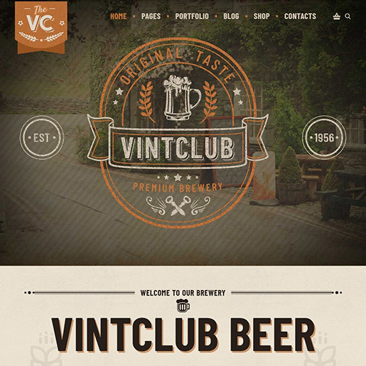 Retro WordPress Theme - Vintclub
