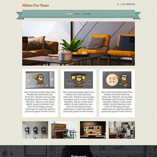 Retro WordPress Theme - iRibbon