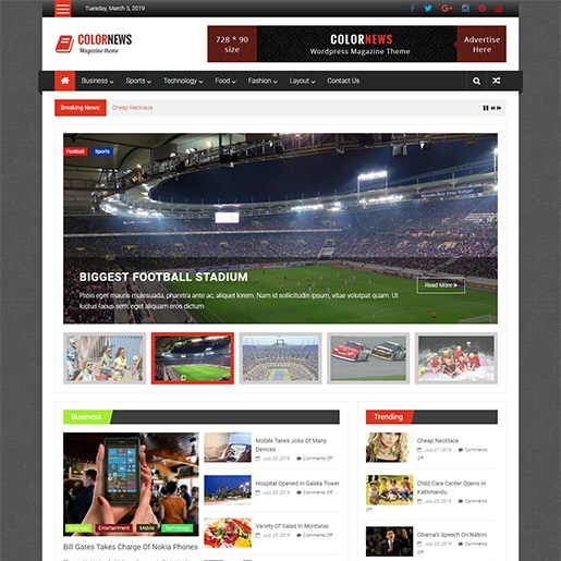 adsense wordpress theme ColorNews