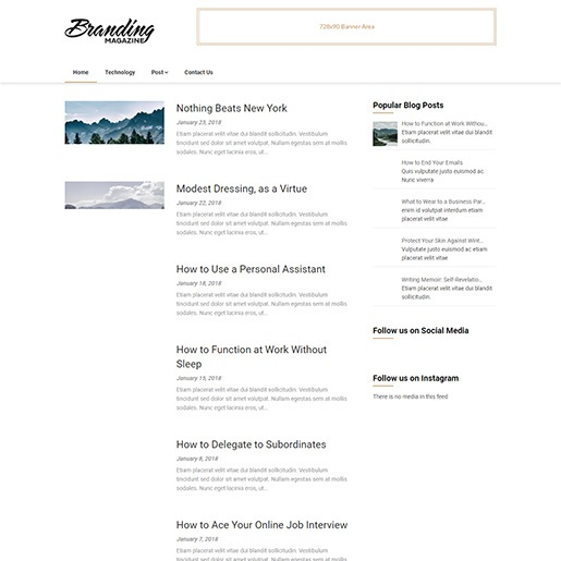 adsense wordpress theme Feather Magazine