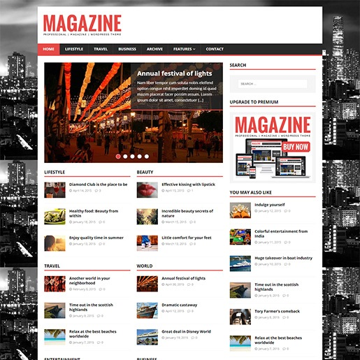 adsense wordpress theme MH Magazine Lite