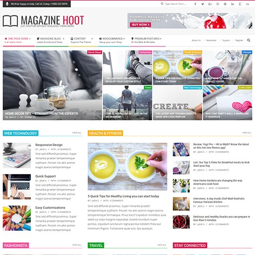 adsense wordpress theme Magazine Hoot