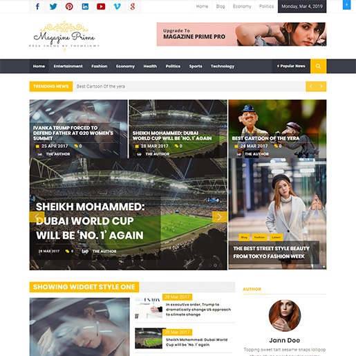 adsense wordpress theme Magazine Prime