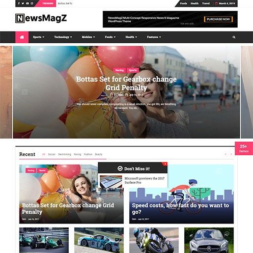 adsense wordpress theme NewsMagZ
