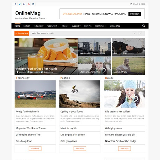 adsense wordpress theme OnlineMag
