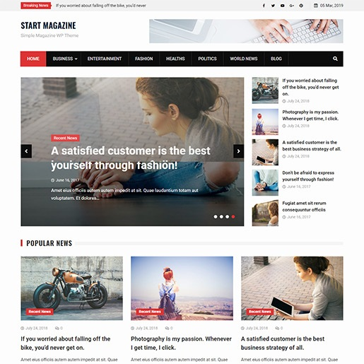 adsense wordpress theme Start Magazine