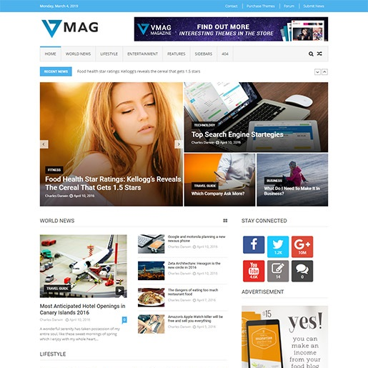 adsense wordpress theme VMag