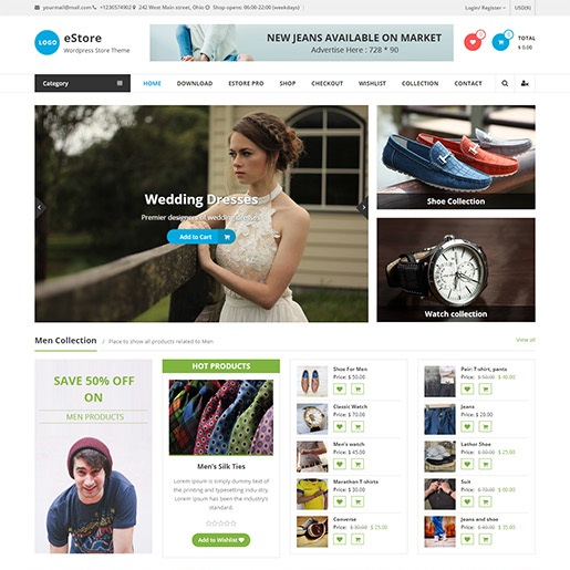 adsense wordpress theme eStore