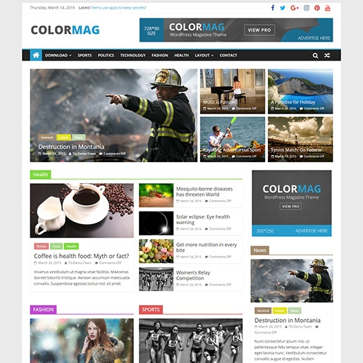 seo wordpress theme colormag