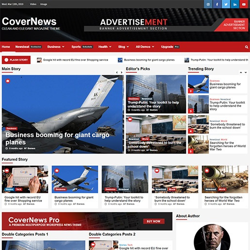seo wordpress themes covernews